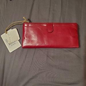 NWT Hobo Taylor Glazed Wallet in Ruby